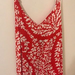 GAP Dresses - Red and white paisley maxi dress